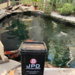 Washington state Koi hobbyist house pond visit. Thank you for inviting and choosing JPD mud booster and Yamato.